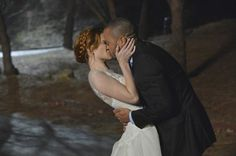 Pin for Later: The Ultimate Grey's Anatomy Wedding Photo Album Grey's Anatomy April (Sarah Drew) and Jackson (Jesse Williams) elope in the clothes meant for her wedding to another man. No biggie.