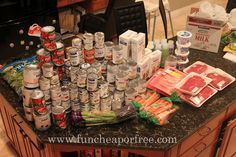 How to build your food storage, paying 1/2 price for the groceries...no coupons or online buying needed.