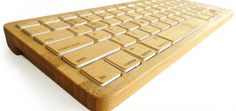 This Bluetooth keyboard is eco-friendly, made of 92% bamboo and even rechargable