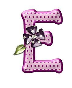 Alfabeto floral rosas...E