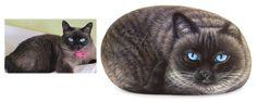 L'arte di dipingere gatti sui sassi, lavori su commissione realizzati a mano da Roberto Rizzo.
