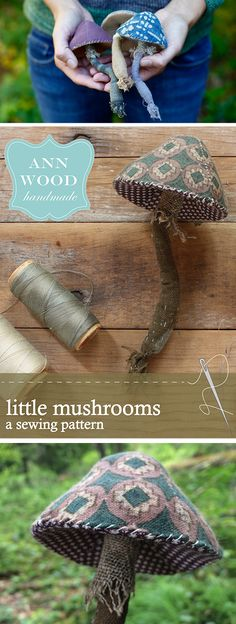 ann wood mushroom pattern sew yourself a woodland this summer from your fabric offcuts