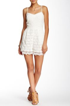 Lace Romper by Champagne & Strawberry on @HauteLook