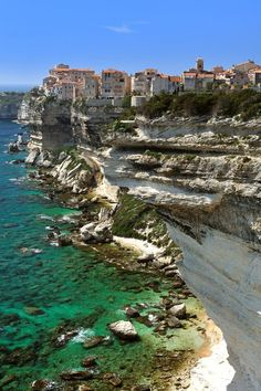 Bonifacio, Corsica, France       #travel #France #beauty