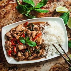 This Thai Basil Chicken with Peppers is ten times better than any takeout, plus way healthier to boot. Skip the takeout and make your own scrumptious Thai Basil Bouillon Thai, Thai Basil Chicken, Chipotle Chicken, Roasted Butternut Squash, Roasted Potatoes, Chicken Stuffed Peppers, Asian, Chicken Recipes, Thai Recipes
