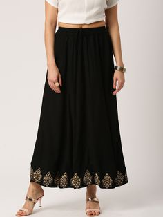 9807391e513 Buy IMARA By Shraddha Kapoor Black Maxi A Line Skirt - - Apparel for Women  from IMARA at Rs. 1119