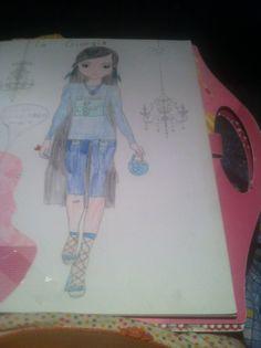 Modella disegnata da me