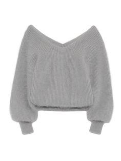 ファーライクタックニットプルオーバー(ニット) snidel(スナイデル) ファッション通販 ウサギオンライン公式通販サイト