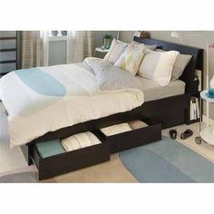 South Shore Cosmos Kids Twin Mates Bed Frame Only In Black Onyx/Charcoal    3127080 | Room Ideas | Pinterest | Bed Frames, Black Onyx And Twins