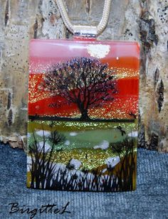 Fused Glass and Decals - AAE Glass Contest artist entry