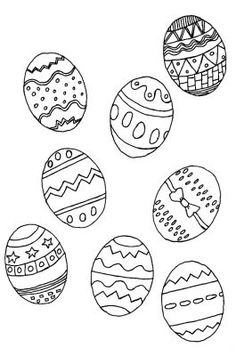 coloriage oeufs paques