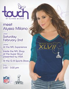 Meet Alyssa at the Super Bowl XLVII NFL Experience operated by Lids on Saturday, February 2nd