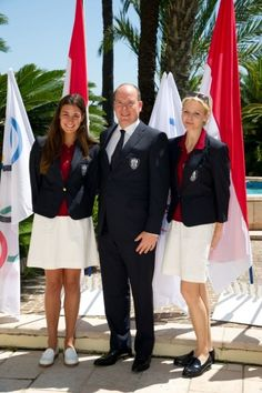 On Thursday, 12 July 2012, Their Serene Highnesses Prince Albert II and Princess Charlene of Monaco were in Monte-Carlo to attend the presentation of Team Monégasque for the upcoming summer Olympic Games in London.
