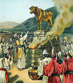 Worshiping the Golden Calf, by Providence Lithograph Company