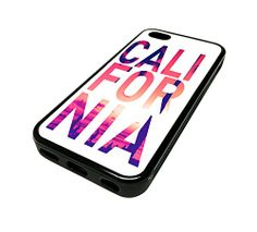 For Apple Iphone 5 or Cute Phone Cases for Girls White California Sunset Typography Cali Design Cover Skin Black Rubber Silicone Teen Gift Vintage Hipster Fashion Design Art Print Cell Phone Accessories Ipod 5 Cases, Iphone Cases For Girls, Iphone Cases Cute, Cool Cases, Disney Diy, Apple Iphone 5, Iphone 5s, Bling, Gifts For Teens
