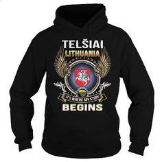 Telsiai-Lithuania - #striped shirt #hooded sweatshirt. PURCHASE NOW => https://www.sunfrog.com/LifeStyle/Telsiai-Lithuania-96425897-Black-Hoodie.html?id=60505