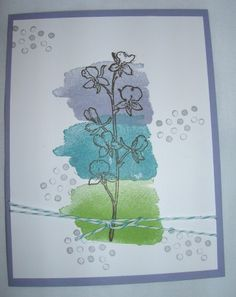 Happy Watercolor stamp set from 2014 Occasions catalog, Stampin' Up! Sandrascraftstudio.wordpress.com