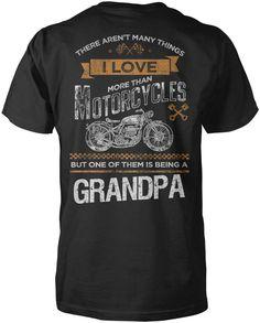 This Grandpa Loves Motorcycles T-Shirt