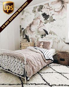 Vinyl Wallpaper, Self Adhesive Wallpaper, Peel And Stick Wallpaper, Print Wallpaper, Wallpaper In Bedroom, Modern Floral Wallpaper, Bold Wallpaper, Wallpaper Ideas, Child Room