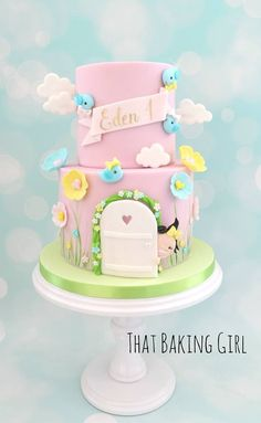 Welcome to that baking girl and into my world of extra special sweets! Birthday Cake Girls, Birthday Parties, Bird Cookies, Cupcake Cakes, Cupcakes, Dora The Explorer, Welcome Baby, Polymer Clay Crafts, Girl Cakes