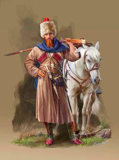 Caucasian war. Highlander