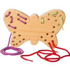 Grimm's Spiel und Holz Wooden Butterfly Sewing Toy