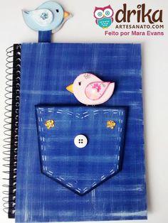 Caderno Decorado com EVA
