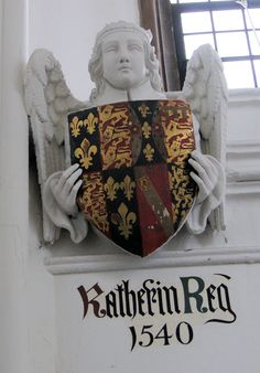 Coat of arms for Queen Katherine (Howard) consort of King Henry VIII Saint Katherine, Katherine Howard, Wives Of Henry Viii, King Henry Viii, Anne Of Cleves, Anne Boleyn, Tudor History, British History, Enrique Viii