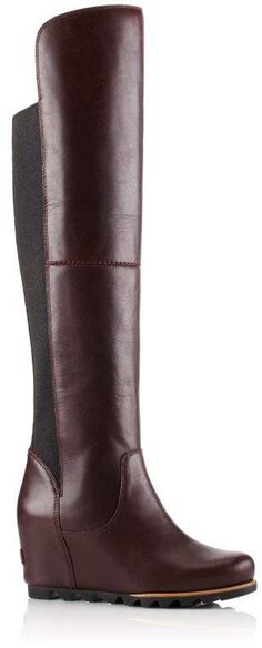 be16dfd0462 Smocked Leather Over-The-Knee Biker Boot