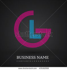 Letter GL linked logo design circle G shape. Elegant red and blue colored, symbol for your business name or company identity.