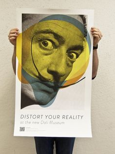Dali 'Distort Your Reality' poster, advertising the new Dali Museum which opened in St Petersburg, Florida, 2011