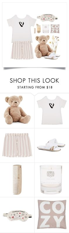"""Lounging Around"" by thedailywear ❤ liked on Polyvore featuring Jellycat, Vera Bradley, Hanro, Muk Luks, HAY, Law of Sleep, Morgan Lane and Tsumori Chisato"