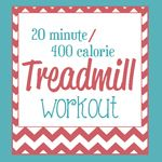 An awesome 20 minute/400 calorie workout plan from The Happy Gal! #happygal #fitness