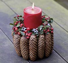 Weihnachtsfloristik: Zapfen BLOOM's ideas for floristry: creative ideas for the design florist Outdoor Christmas Decorations, Rustic Christmas, Tree Decorations, Christmas Time, Christmas Wreaths, Christmas Crafts, Christmas Ornaments, Holiday Decor, Pine Cone Crafts