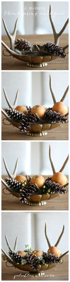 5 Minute Thanksgiving Centerpiece Tutorial - no experience needed!