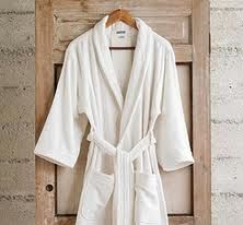 I'd like a cozy plush white bathrobe.