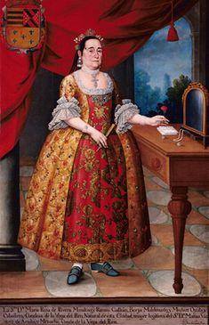 Portrait of Dona Maria Rosa de Rivieria Cnndessa de la Vega del Ren, by Pedro José Díaz | Lima, Perú, 1780s