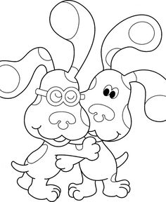 Free Printable Blues Clues Coloring Pages For Kids Blues Clues