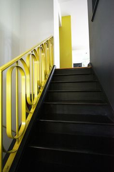 bright designlabSaveEmail Take it upstairs. Wooden stairs, simply painted, look great in any home, but why not take the black theme upstairs, too? Dark stairway walls create a slash of drama at the heart of the house...
