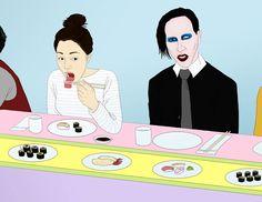 Wieden and Kennedy - Marilyn Manson - Sophia Chang Design & Illustration