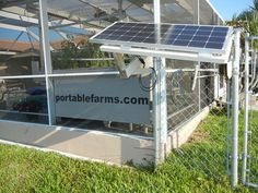 Portable Farms® Aquaponics Systems is a carbon neutral and pesticide-free food production facility designed to use readily available off-the-shelf equipment. 10 Gallon Fish Tank, Aquaponics System, Grow Lights, Solar Panels, Free Food, Landscape, Water, Outdoor Decor, Pumps