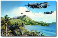 Aviation art by Richard Taylor depicting the Wildcat flown by Joe Foss Aviation World, Aviation Art, Rotterdam, Pictures Of Soldiers, Navy Carriers, Action Pictures, Airplane Art, Ww2 Planes, Military Aircraft