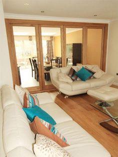 Internal single glazed oak bi-folding doors, made to measure, Palmers Green, N13