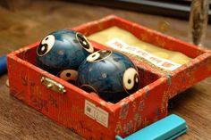 boading balls.