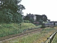 A train passes the site of Ruthrieston Station, Aberdeen, in the late 1960's. Station closed in 1937.