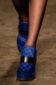 quilted, furry shoes - Rag & Bone Fall 2013 Ready-to-Wear Collection