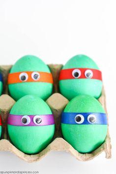 Dyed Ninja Turtles Easter Eggs - A Pumpkin And A Princess