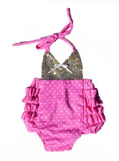 Minnie Mouse Pink Sparkle Romper READY TO SHIP