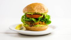 Sweet Potato Black Bean Burger Made with quinoa and sweet potato, this flavorful veggie burger is both yummy and nutritious.