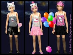 Amberlyn Designs Sims: Cute Hello Kitty Set • Sims 4 Downloads